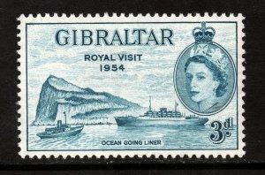 Gibraltar King George VI 1954 Royal Besuchen Ausgabe Sg 159 Postfrisch