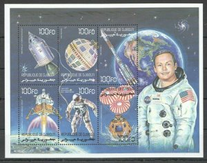 PK241 DJIBOUTI TRANSPORT FAMOUS PEOPLE SPACE NASA ARMSTRONG KB MNH STAMPS