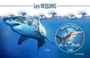 Togo Stamps 2019. - Sharks (Sphyrna mokarran). Blok.