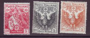 J17203 JLstamps 1915-6 italy set mh #b1-3 flag/eagle