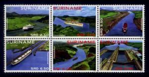 Suriname Sc# 1478 MNH Panama Canal Centenary (Block of 6)