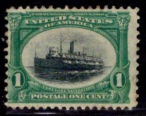 US Stamp #294 1c Pan-American MINT NO GUM  SCV $16 (as hinged)