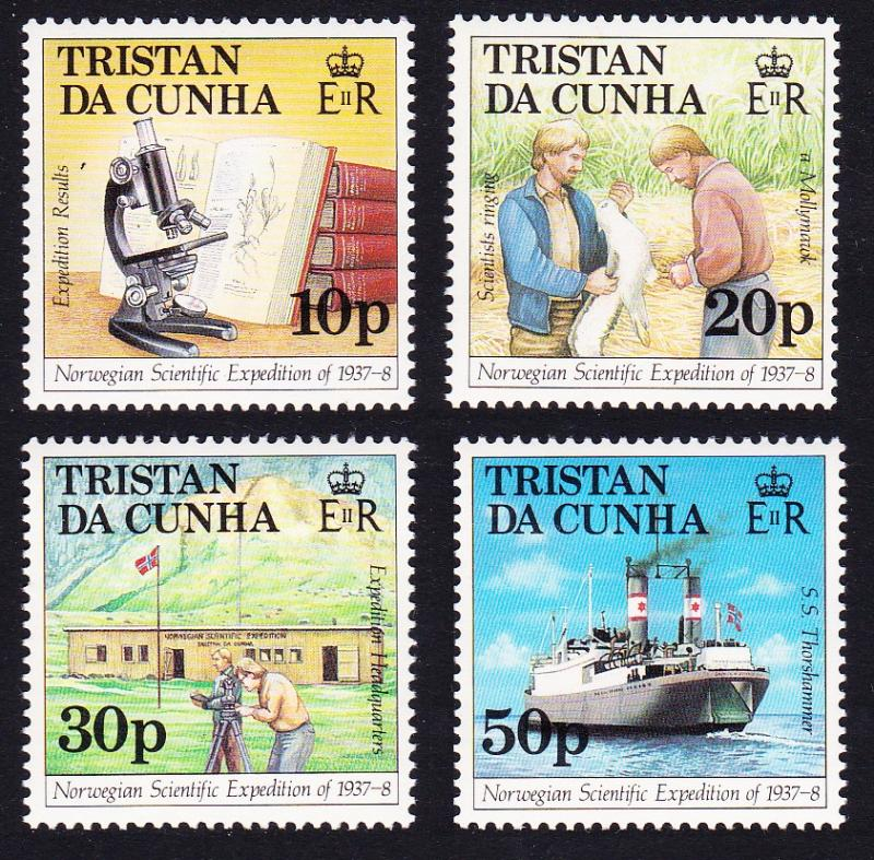 Tristan da Cunha Norwegian Scientific Expedition 4v SG#434/47 SC#416-19