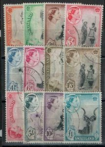 Swaziland 1956 SC 55-66 Used Set CV $110
