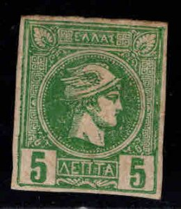 Greece Scott 66 1888 Hermes Head  Belgian Print MH* hinge remnant in gum