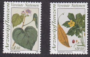 United Nations - Vienna # 101-102, Medicinal Plants, NH, 1/2 Cat.
