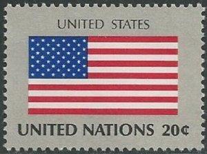 United Nations 362 New York United States Flag 20c single MNH 1981