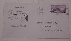 US FDC  1936 ROESSLER WYOMING  CACHET ADDRESSED