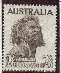 Australia Scott 248 MH*  aborigine redrawn 20.5x25mm