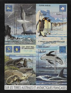 MARINE LIFE - FRENCH SOUTHERN  ANTARCTIC TERRITORIES #291    MNH