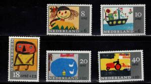 Netherlands Scott B402- B406 MNH** semi-postal set