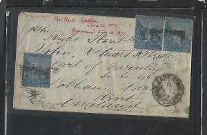 CAPE OF GOOD HOPE COVER (PP0310B)  1873 4DX3 SMALL COVER CAPETOWN TO ENGLAND