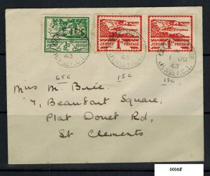 Jersey England Channel Island German Occupation Cover To St Clements 2 1/2d