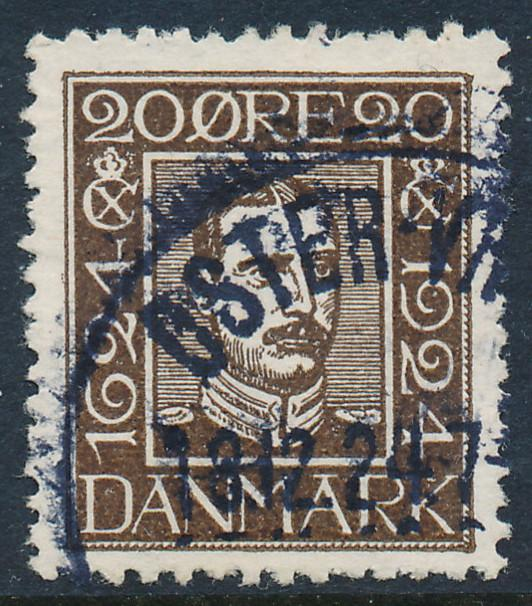 Denmark Scott 172 (AFA 140), 20 øre brown, VF used