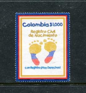 Colombia 1173, MNH, Birth Registrration 2000. x23438