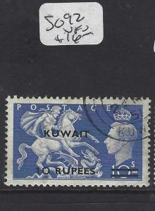 KUWAIT  (P2302B)  ON GB   KGVI  10R/10/-  SG 92   VFU