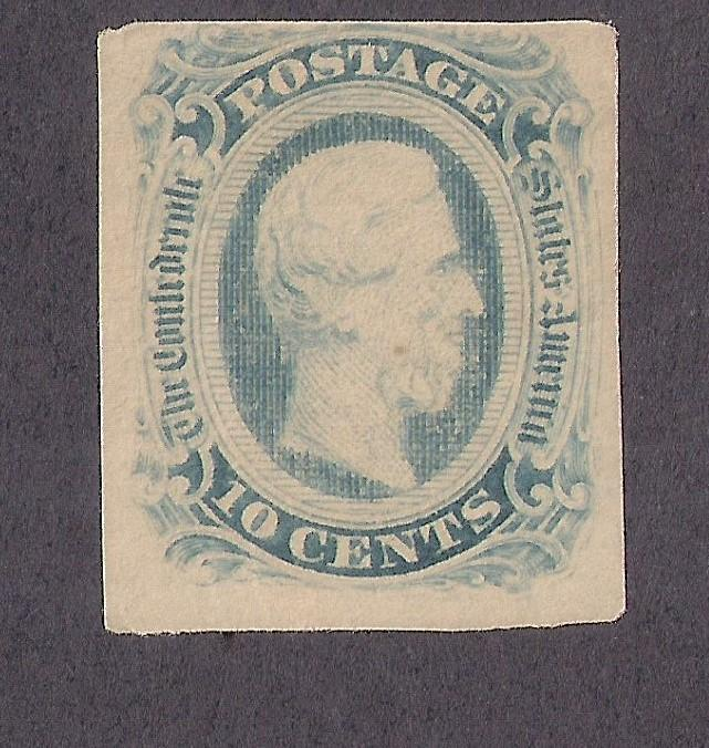 CONFEDERATE STATES OF AMERICA #12 OG HR possibly 12a TRULY ODD LIGHT COLOR!!