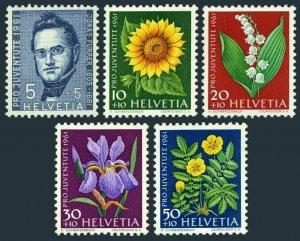 Switzerland B308-B312,MNH.Michel 742-746. Juventute 1961.Jonas Furrer,Flowers.