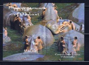 Malawi 748 MNH 2009 Hippopotamus S/S