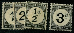 HERRICKSTAMP GOLD COAST Sc.# J1-4 Mint LH Scott Retail $55.00
