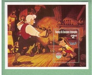 Disney - Turks & Caicos -1980 - Christmas/Pinocchio - S/S