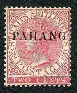 Pahang SG1 2c Pale rose M/M (gum a little toned) Cat 170 pounds
