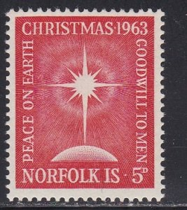 Norfolk Island # 65, Christmas - Star of  Bethlehem, NH, 1/2 Cat.
