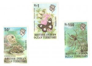 1973    BRITISH INDIAN OCEAN TERRITORY -  SG. 53 / 55  -  WILDLIFE -  MNH