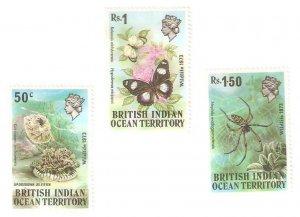 1973    BRITISH INDIAN OCEAN TERRITORY -  SG. 53 / 55  -  WILDLIFE -  MNH