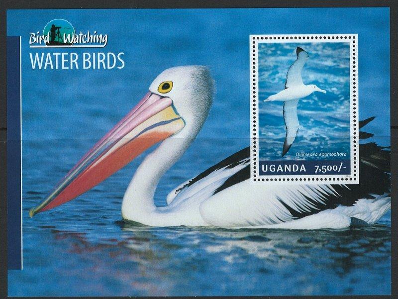 Uganda Scott 2125 MNH! Water Birds! Souv. Sheet!
