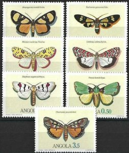 1984 Angola Butterflies, Farfalle complete set VF/MNH! LOOK!