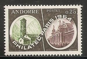 Andorra French 158 1964 Philatelic Show single NH