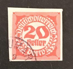 Austria 1920 #J96, Used