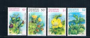 St Vincent - Grenadines 239-42 MNH set Cacti 1982 (S0903)