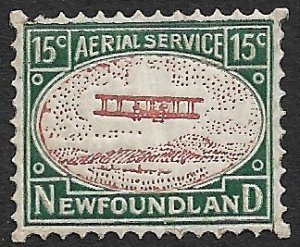 NEWFOUNDLAND 1931 AC ROESSLER 15c Airmail Label MNH