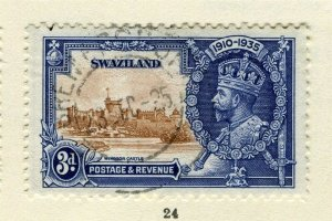 SWAZILAND; 1935 early GV Jubilee issue fine used 3d. value