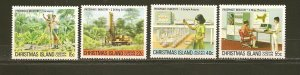 Christmas Island 95-98 Phosphate Industry May 5 1980 Set of 4 MNH