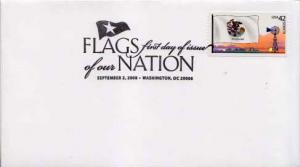 United States, First Day Cover, Flags, Illinois