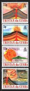 Tristan da cunha. 1982. 333-36. Volcanoes, geology. MNH.