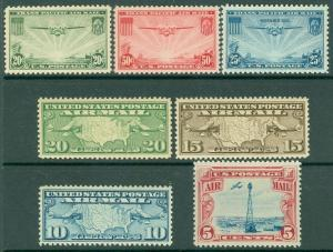 EDW1949SELL : USA Group of 7 XF-Superb, Mint Never Hinged Air Mails. Cat $56