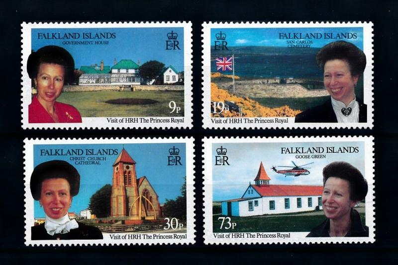 [72017] Falkland Islands 1996 Royal Visit Church Cemetery Helicopter  MNH