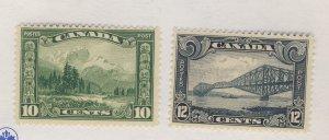 2x Canada Stamps; #155-10c MNH Fine,  & #156-12c MNH Fine. Guide Value = $40.00
