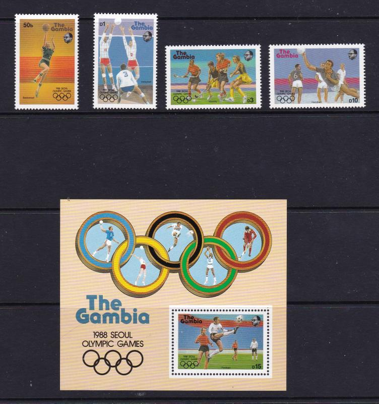 Gambia a set & mini from 1987