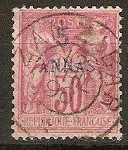 France Off Zanzibar 8 Mi 8 Usd SOTN Cds F/VF 1894 SCV $32.50