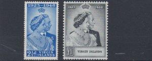 BRITISH  VIRGIN ISLANDS   1948 - 49  ROYAL SILVER WEDDING  MH