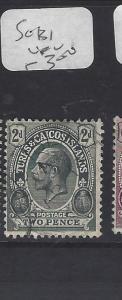 TURKS AND CAICOS  (PP2909B)  KGV  2D    SG 131   VFU