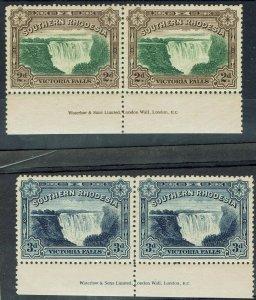 SOUTHERN RHODESIA 1932 VICTORIA WATERFALLS SET IMPRINT PAIRS