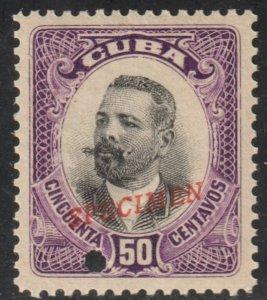 1910 Cuba Stamps Sc 245 Major General Antonio Maceo  Specimen MNH