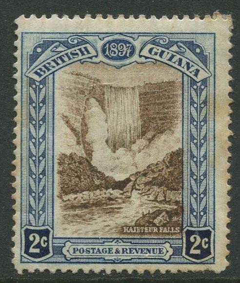 STAMP STATION PERTH British Guiana #153-QV 60TH Anniv. Throne MH Wmk 1 CV$40.00