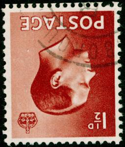 SG459Wi, 1½d red-brown, FINE USED, CDS. WMK INV